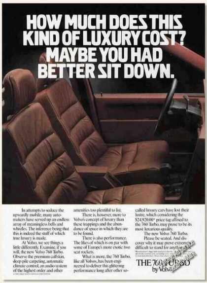 "Volvo 760 Turbo ""You Had Better Sit Down"" (1985)"