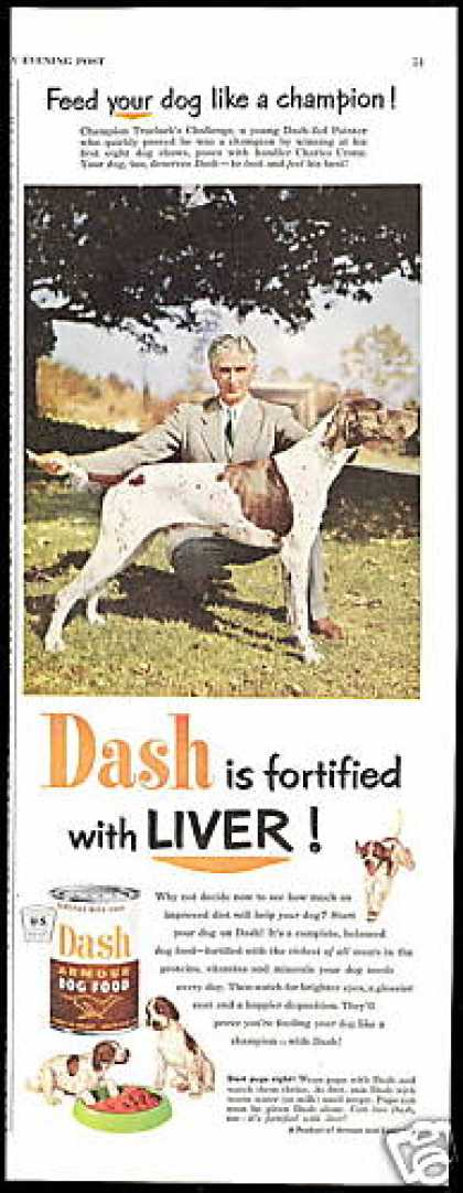 Trueluck's Challenge Pointer Dash Dog Food (1952)