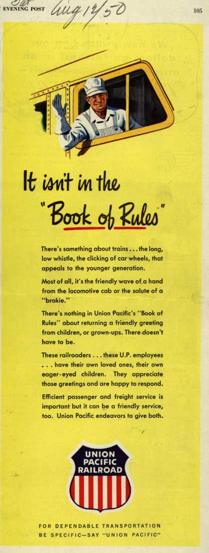 "Union Pacific Railroad – It isn't in the ""Book of Rules"" (1950)"