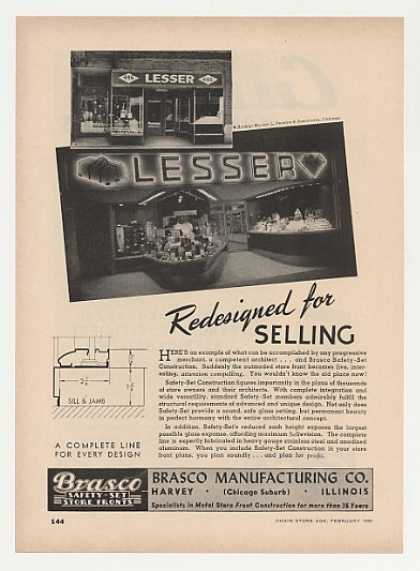 Lesser Store Chicago Brasco Store Fronts (1949)