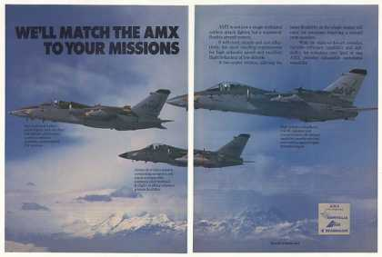 Aeritalia AMX Attack Fighter Aircraft Photo 2-P (1987)