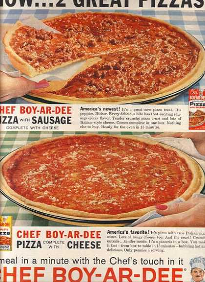 Chef Boy-Ar-Dee's Complete Pizza Mix (1962)