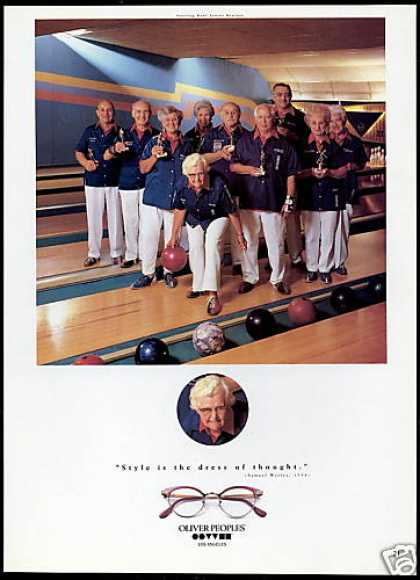 Oliver Peoples Eyewear Sterling Bowl Bowlers (1993)