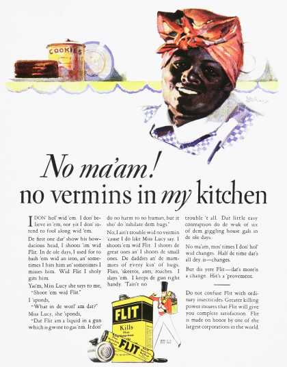 Flit – No ma'am! No vermins in my kitchen.