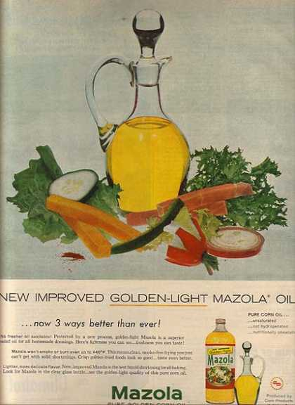 Mazola's Golden-Light Oil (1957)