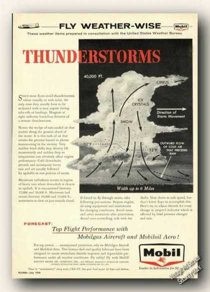 Mobil Fly Weather-wise Thunderstorms (1958)