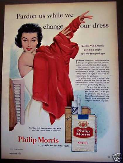 Philip Morris Cigarettes Woman Dressing (1955)