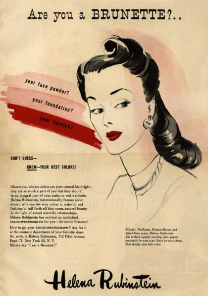 Helena Rubinstein's Color-Spectograph – Are you a Brunette? (1945)