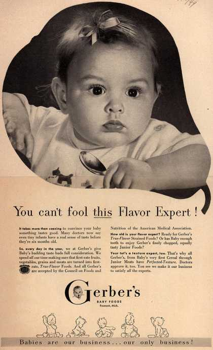 Gerber's Gerber Baby Foods – You Can't Fool This Flavor Expert (1949)