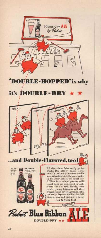 Pabst Blue Ribbon Beer Double Dry (1942)
