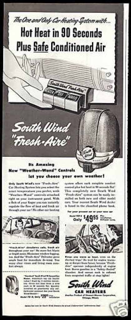 South Wind Fresh Aire Car Heater Stewart Warner (1949)