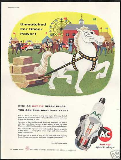County Fair White Horse AC Spark Plug (1956)
