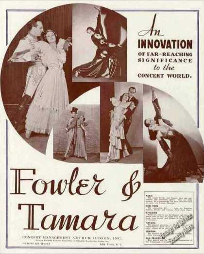 Fowler & Tamara Photos Spanish Dancers Trade (1936)