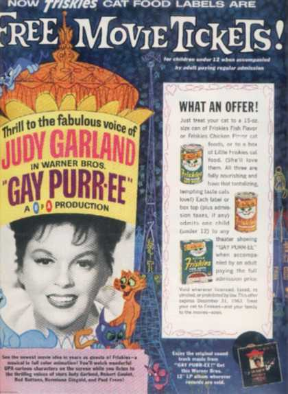 Friskies Cat Food – Judy Garland (1962)