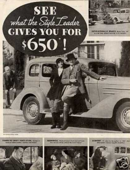 Oldsmobile Car Ad 2 Page (1934)