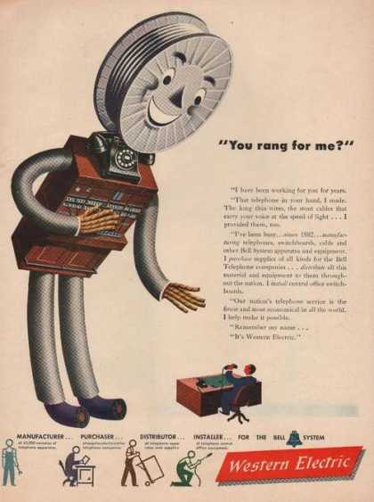 "Western Electric ""You Rang for Me"" Telepho (1946)"
