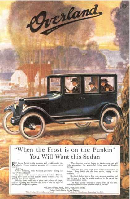 Overland Cars, USA (1920)