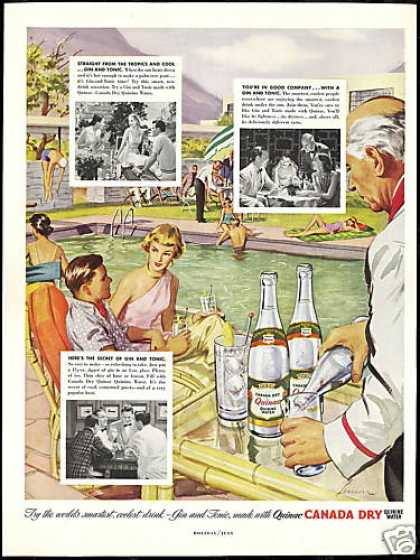 Canada Dry Quinac Swimming Pool Vintage (1951)
