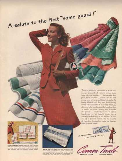 Salute To the First Home Cannon Towels (1942)