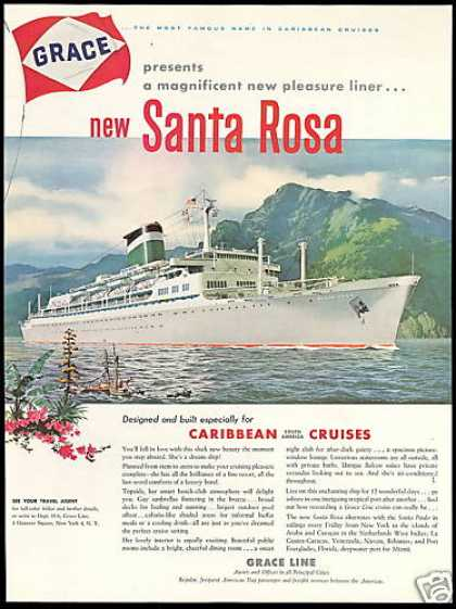Grace Line Santa Rosa South America Cruise (1958)