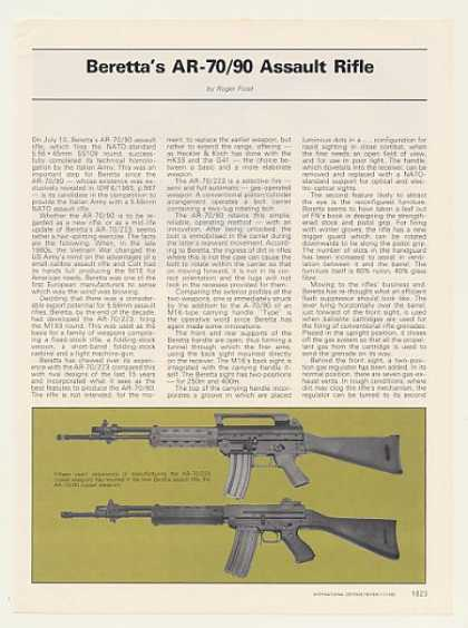 Beretta AR-70/90 Assault Rifle 2-Page Article (1985)