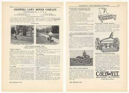 Coldwell Lawn Mower Co Gang Lawn Mowers 2-Page (1931)