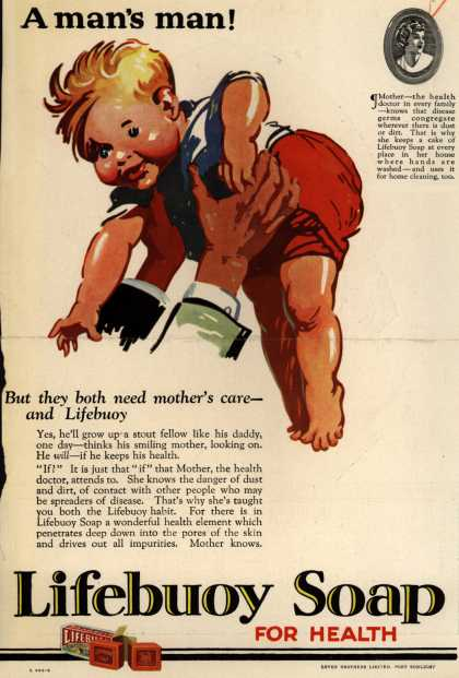 Lever Brothers Limited's Lifebuoy Health Soap – A man's man (1927)