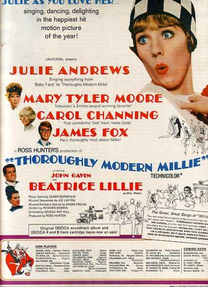 Thoroughly Modern Millie (Julie Andrews, Mary Tyler Moore, Carol Channing, James Fox, John Gavin and Beatrice Lillie) (1967)