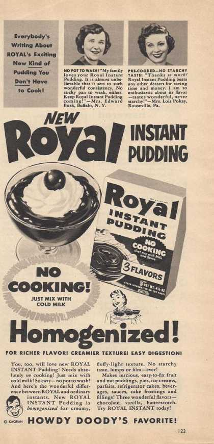 Royal Instant Pudding Mix (1953)