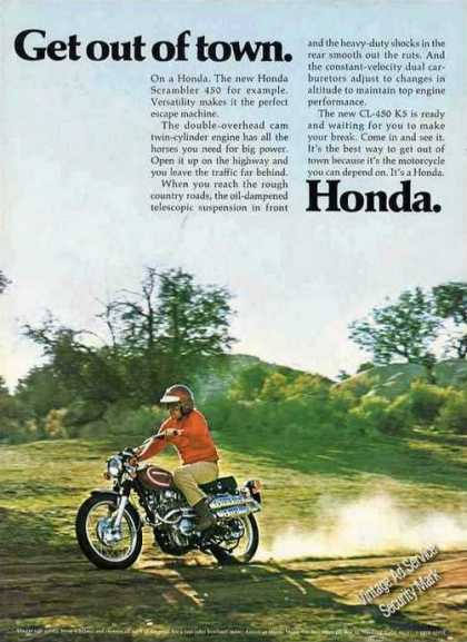 "Honda Scrambler 450 ""Get Out of Town"" (1972)"