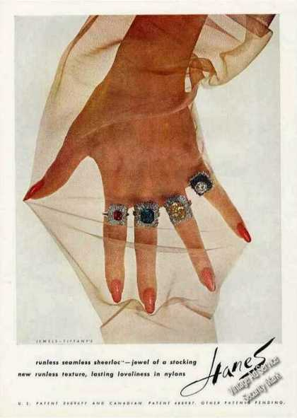 Jewels By Tiffany's Collectible Hanes Stocking (1962)