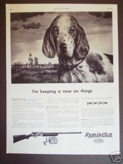 Remington Shotgun Hunting Dog Wwii Original (1943)