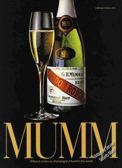 Mumm Champagne Ad Nice Color (1983)