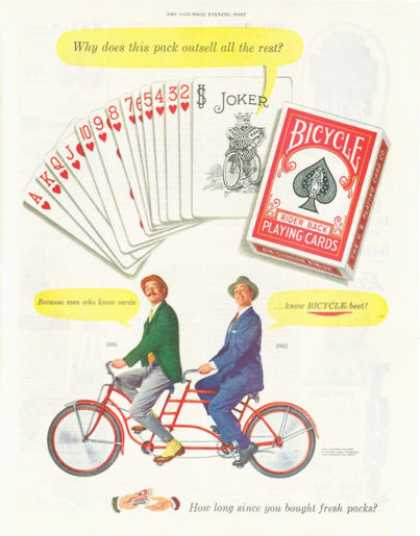 Bicycle Playing Cards Bicycle for Two (1952)