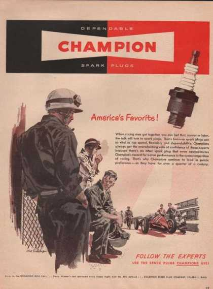 Champion Americas Favorite Spark Plugs (1949)