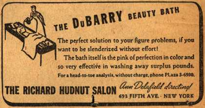 Richard Hudnut's Du Barry Beauty Bath – The Du Barry Beauty Bath (1937)