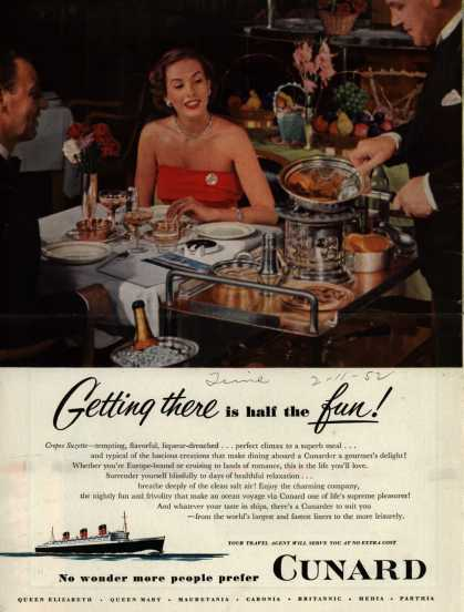 Cunard White Star Line's food – Getting there is half the fun (1952)