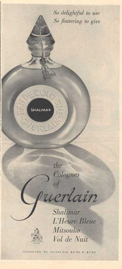 Guerlain Shalimar Cologne Bottle (1957)