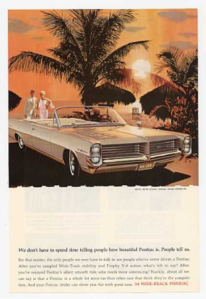 Pontiac Bonneville Convertible Sunset Palm Tree (1964)