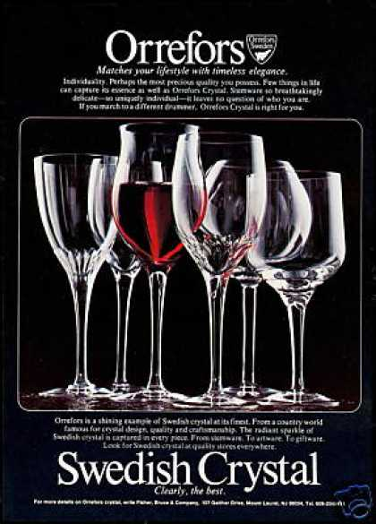 Orrefors Swedish Crystal Stemware Glasses Photo (1978)