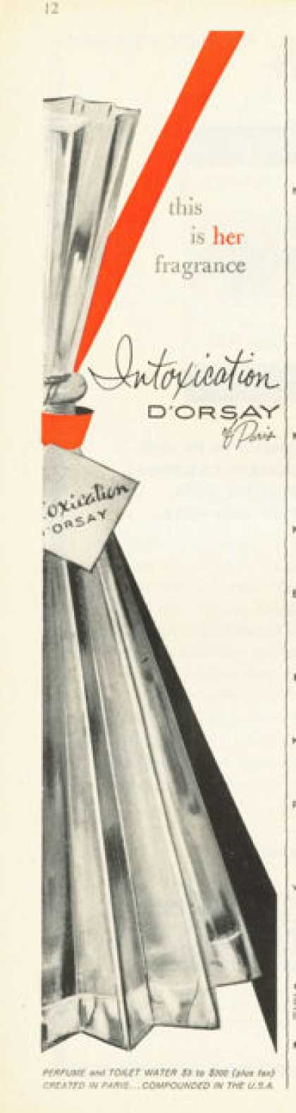 D'orsay of Paris Intoxication Perfume (1958)