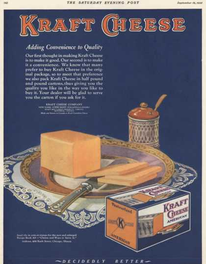 Kraft, Cheese, USA (1925)