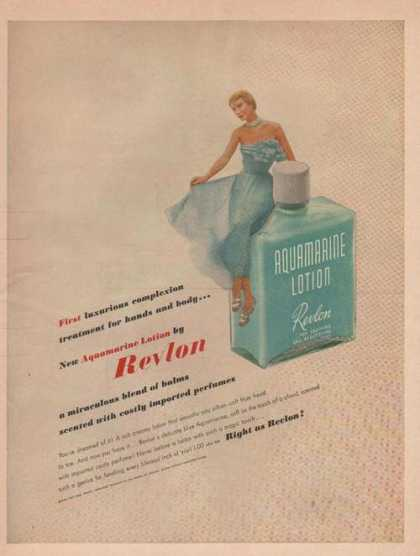 Revlon Aquamarine Lotion (1949)