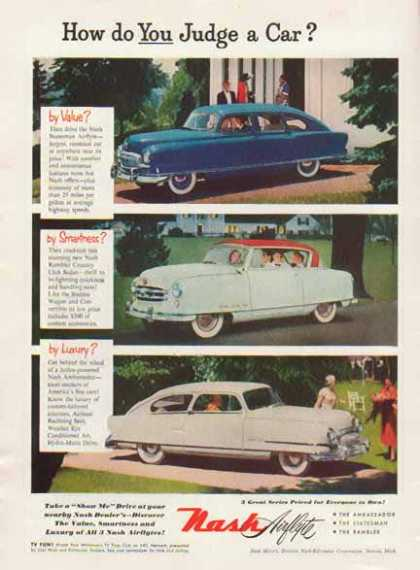 Nash Airflyte Car – 3 Different Cars – How Do You Judge? (1951)