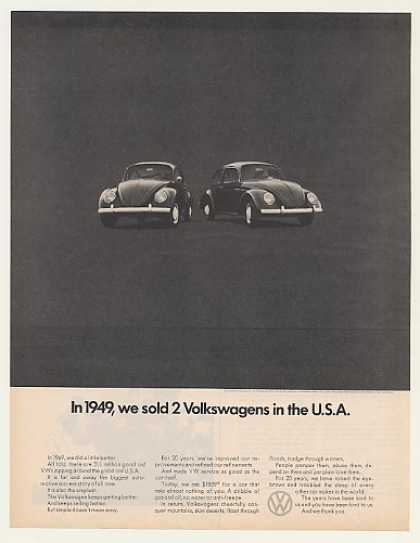 VW Volkswagen Beetle Bug Sold 2 in 1949 in USA (1970)
