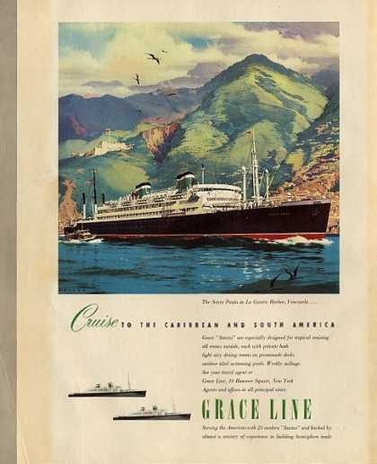 Grace Line the Sant Paula In La Guaira (1950)