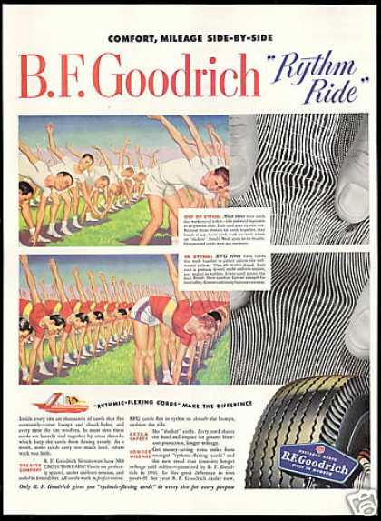 B F Goodrich Tires Exercise Class Vintage (1949)