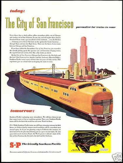 Sp Southern Pacific Train San Francisco (1946)