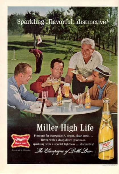Miller Beer Golf Course Bottle (1964)