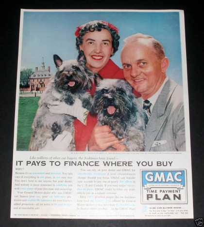 Gmac Finance, Gm Cars, Pair of Dogs (1959)
